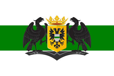 the hague: Flag of Groningen is the main municipality as well as the capital city of the eponymous province in the Netherlands. Vector illustration