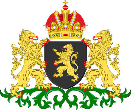 north brabant: Coat of arms of North Brabant is a province in the south of the Netherlands. Vector illustration