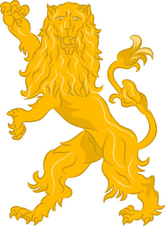 The rebels lion - the heraldic symbol used in the flags and coats of arms