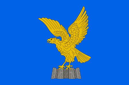 Bandiera del Friuli-Venezia Giulia è una delle 20 regioni d'Italia. Illustrazione vettoriale