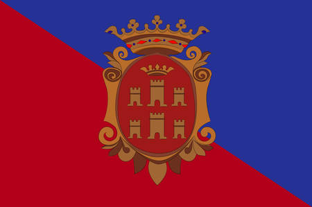 Flag of Campobasso is a city and comune in central-southern Italy. Vector illustration Illustration