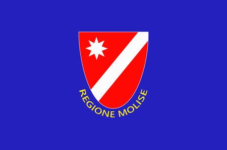 Flag of Molise is a region of Southern Italy. Vector illustration