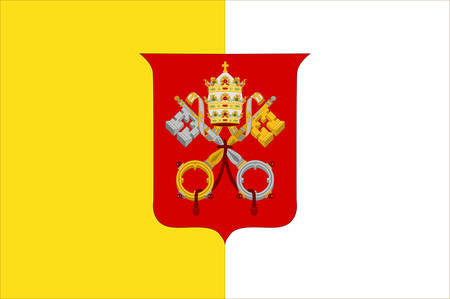 walled: Flag of Vatican City officially Vatican City State  is a walled enclave within the city of Rome. Vector illustration