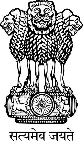 Coat of arms of India, officially the Republic of India is a country in South Asia. Vector illustration