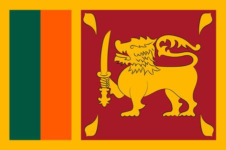 스리랑카의 국기 스리랑카는 공식적으로 민주 사회주의 공화국 인 스리랑카는 남동쪽 인도 근처의 남아시아에있는 섬나라입니다. 벡터 일러스트 레이 일러스트