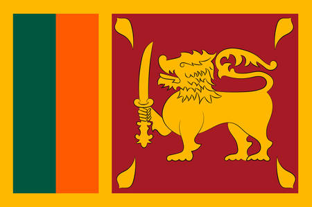 Flag of Sri Lanka officially the Democratic Socialist Republic of Sri Lanka is an island country in South Asia near south-east India. Vector illustration