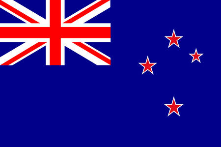 Flag of New Zealand. The Union Flag recalls New Zealands colonial ties to Britain and the stars represent the constellation of Crux, the Southern Cross. Vector