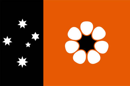 Flag of Northern Territory (NT) is a federal Australian territory in the centre and central northern regions. Vector