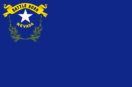 Flag of Nevada state in the Western of United States. Vector illustration Ilustrace