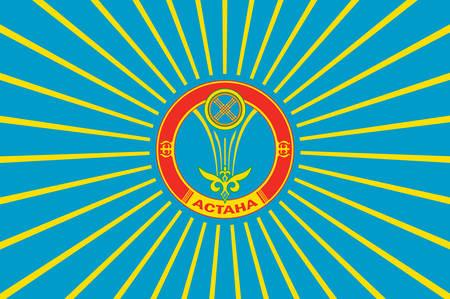 soviet flag: Flag of Astana is the capital of Kazakhstan. Vector illustration