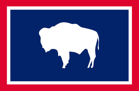Flag of Wyoming state of the Western United States - vector
