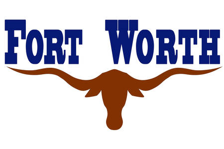 Flag of Fort Worth is the city in Texas, United States. Vector illustration Stock Vector - 79999413