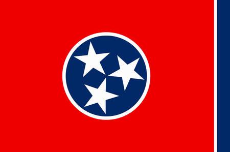 テネシー州の旗は、アメリカ合衆国の状態です。ベクトル図