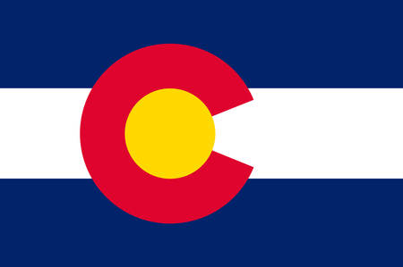 Flag of Colorado in United States. Vector