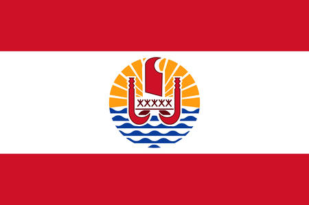 francaise: Flag of French Polynesia is an overseas collectivity of the French Republic. Vector illustration