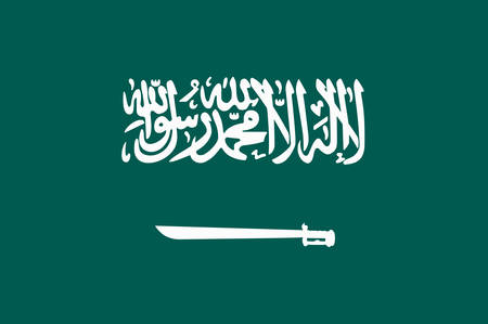 kingpin: Flag of Saudi Arabia is an Arab sovereign state in Western Asia constituting the bulk of the Arabian Peninsula. Vector illustration