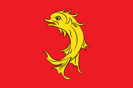 leger: Flag of Loire is a department in the east-central part of France. Vector illustration