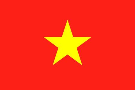 Flag of Vietnam officially the Socialist Republic of Vietnam. Vector illustration Illustration
