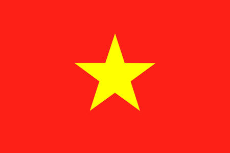 Flag of Vietnam officially the Socialist Republic of Vietnam. Vector illustration Ilustrace