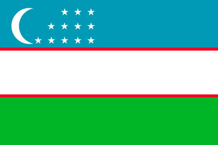 Flag of Uzbekistan is one of only two doubly landlocked countries in the world. Located in Central Asia. Vector illustration Illustration
