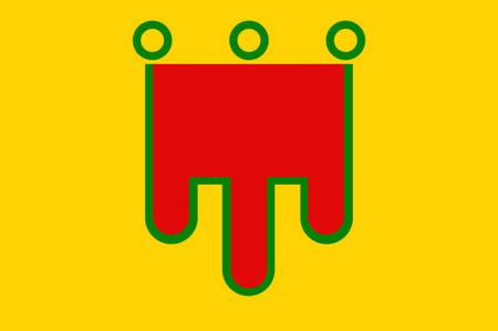former: Flag of Auvergne is a former administrative region of France. Vector illustration