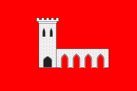 Flag of Pontarlier is a commune and one of the two sub-prefectures of the Doubs department in the Bourgogne-Franche-Comte region in eastern France. Vector illustration Illustration