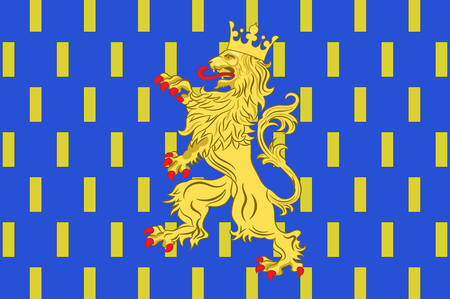 provinces: Flag of Franche-Comte is a former administrative region and a traditional province of eastern France. Vector illustration