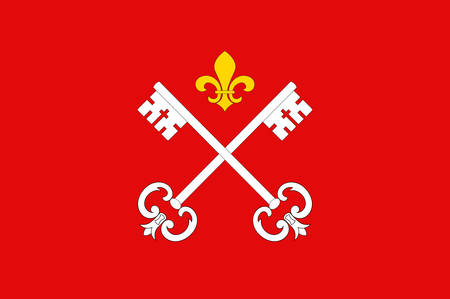 Flag of Louhans is a commune in the Saone-et-Loire department in the region of Bourgogne in eastern France. Vector illustration