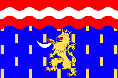 Flag of Haute-Saone is a French department of the Franche-Comte region named after the Saone River. Vector illustration