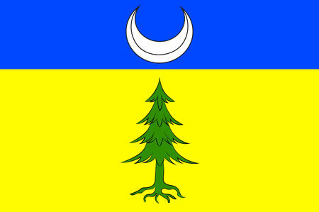 provinces: Flag of Saint-Claude is a commune in the Jura department in the Bourgogne-Franche-Comte region in eastern France. Vector illustration