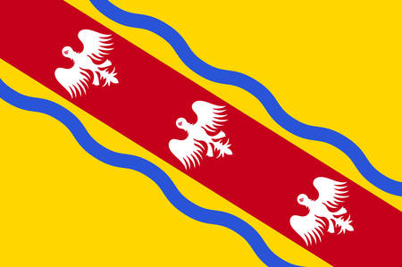 Flag of Meurthe-et-Moselle is a department in the Grand Est region of France Vector illustration