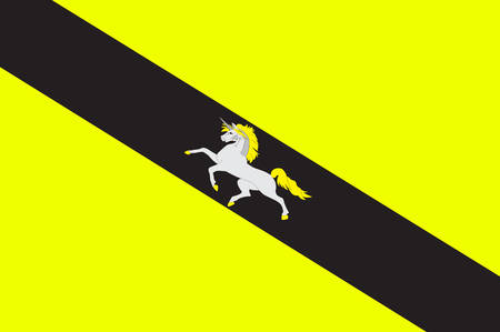 Flag of Saverne is a commune in the Bas-Rhin department in Grand Est in north-eastern France Vector illustration