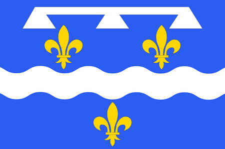 Flag of Loiret is a department in north-central France Vector illustration