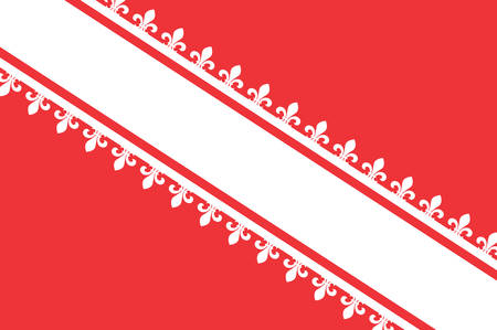 Flag of Bas-Rhin is a department in the Grand Est region of France Vector illustration