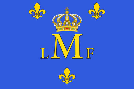 Flag of Montargis is a commune in the Loiret department in north-central France on the Loing river Vector illustration Illustration