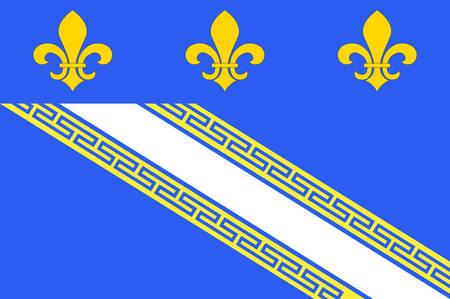 Bandiera di Troyes è un comune e la capitale del dipartimento di Aube nel nord-centro della Francia Illustrazione vettoriale Archivio Fotografico - 81663997