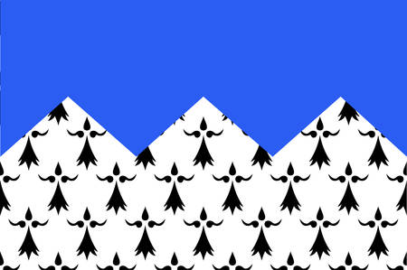 northwestern: Flag of Cotes Armor formerly named Cotes-du-Nord, is a department in the north of Brittany, in northwestern France Vector illustration
