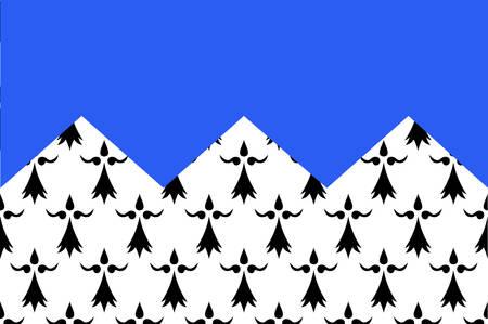 Flag of Cotes Armor poprzednio o nazwie Cotes-du-Nord, to departament na północy Bretanii, w północno-zachodniej Francji ilustracji wektorowych Ilustracja