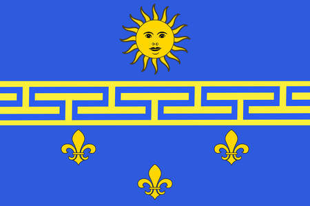 Flag of Nogent-sur-Seine is a commune in the Aube department in north-central France Vector illustration