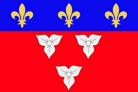 Drapeau d'Orléans est une ville du centre-nord de la France, c'est la capitale du département du Loiret et de la région Centre-Val de Loire. Illustration vectorielle Banque d'images - 81664013