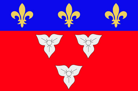 Flag of Orleans is a city in north-central France, it is the capital of the Loiret department and of the Centre-Val de Loire region Vector illustration