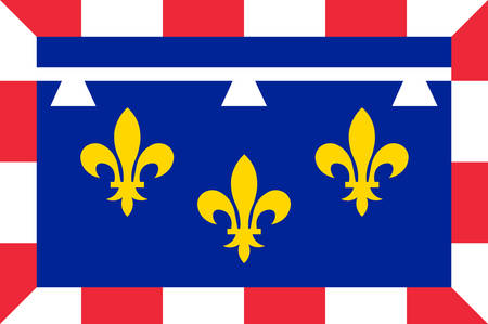 Flag of Centre-Val de Loire  is one of the 18 regions of France Vector illustration Illustration
