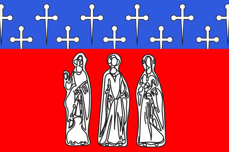Flag of Commercy is a commune in the Meuse department in Grand Est in north-eastern France Vector illustration