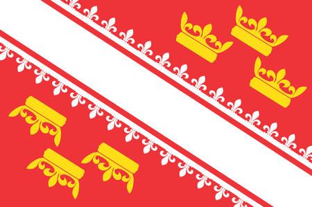 Vlag van de Elzas is een culturele en historische regio in Oost-Frankrijk nu gelegen in de administratieve regio van Grand Est vectorillustratie