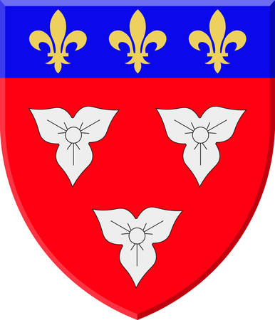 Coat of arms of Orleans is a city in north-central France, it is the capital of the Loiret department and of the Centre-Val de Loire region vector illustration
