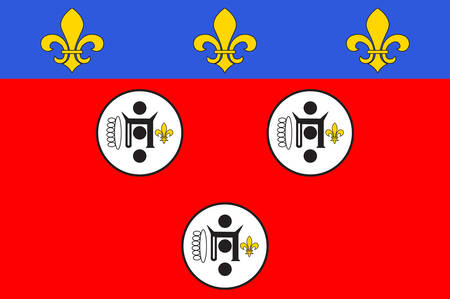Flag of Chartres is a commune and capital of the Eure-et-Loir department in France Vector illustration Illustration