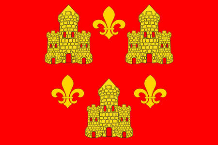 Flag of Chinon is a commune located in the Indre-et-Loire department in the Region Centre, France Vector illustration