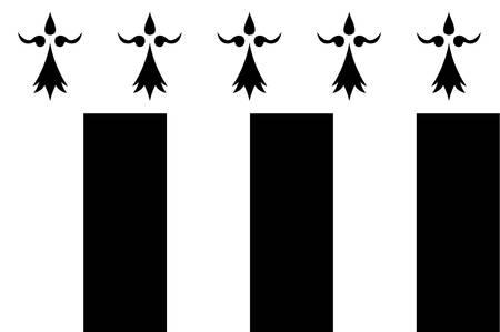 렌의 국기 브리트니, 프랑스의 지역의 수도입니다. 벡터 일러스트 레이 션