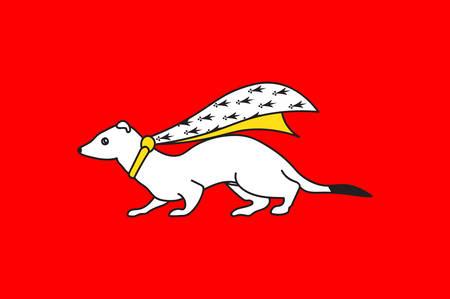 ヴァンヌの旗は北西フランスのベクトル図にブルターニュでモルビアン県のコミューン  イラスト・ベクター素材