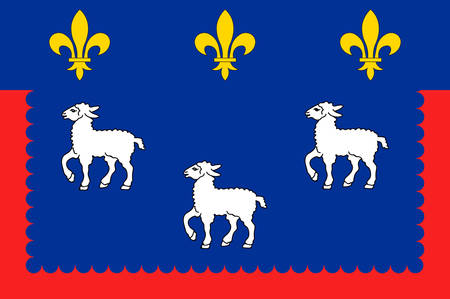 Flag of Bourges is the capital of the department of Cher in central France Vector illustration